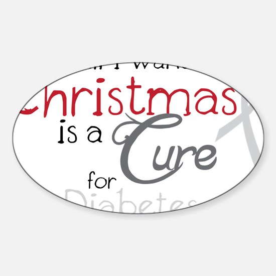 Cure For Diabetes Sticker (Oval)