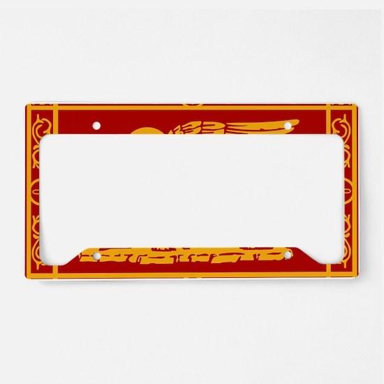 venice flag rug License Plate Holder