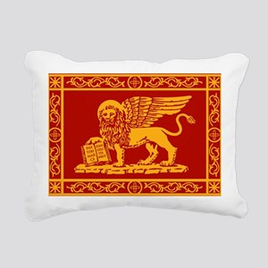 venice flag rug Rectangular Canvas Pillow