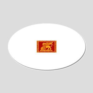 venice flag rug 20x12 Oval Wall Decal