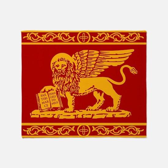 venice flag rug Throw Blanket