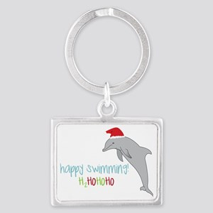 Happy Swimming Landscape Keychain