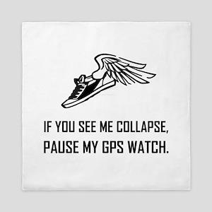 See Runner Collapse Pause GPS Watch Queen Duvet