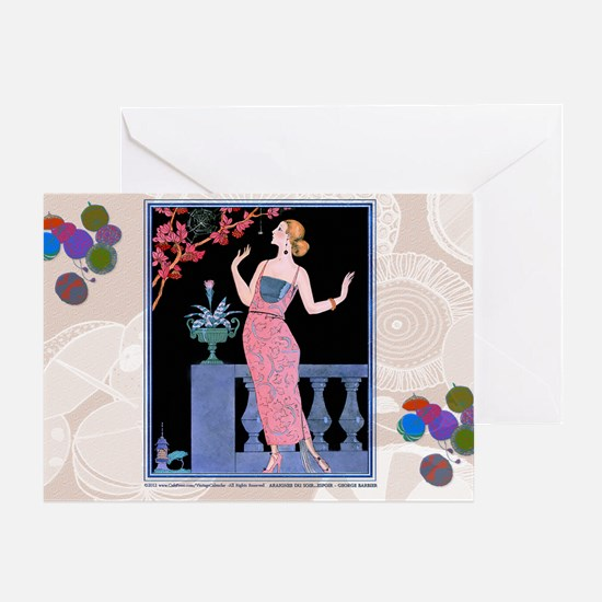 1 JAN ARAIGNEE DU SOIR BARBIER Greeting Card