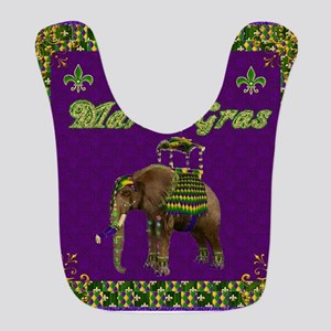 Happy Mardi Gras Elephant Bib