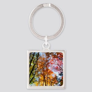 Autumn Trees Oil Painting Keychains
