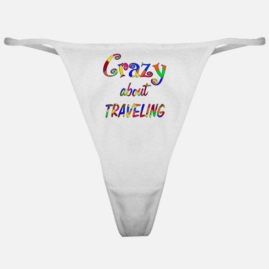 Crazy About Traveling Classic Thong