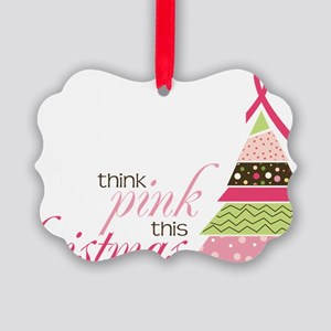 Think Pink Picture Ornament