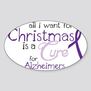 Cure For Alzheimers Sticker (Oval)