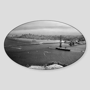 USS Nimitz - Golden Gate Bridge Sticker (Oval)