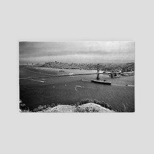 USS Nimitz - Golden Gate Bridge 3'x5' Area Rug