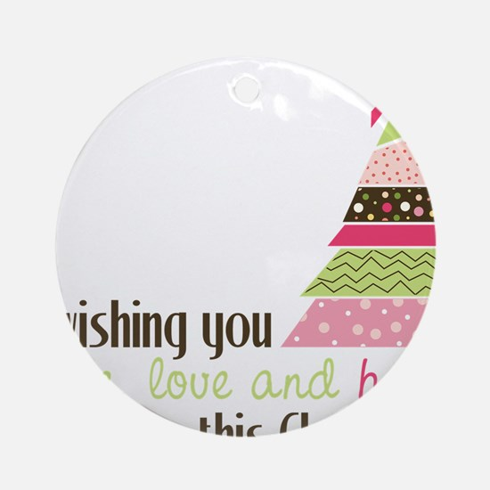 Wishing You Round Ornament