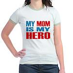 Hero Mom Jr. Ringer T-Shirt