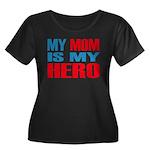 Hero Mom Women's Plus Size Scoop Neck Dark T-Shirt