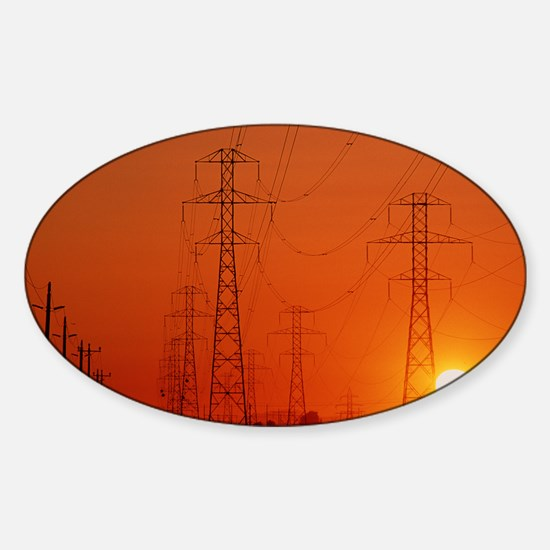 Electricity transmission lines at s Sticker (Oval)