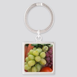 luscious wine country style fruit  Square Keychain