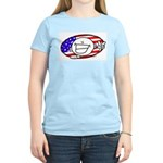 Patriotic Peace Happy Face Women's Light T-Shirt