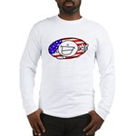Patriotic Peace Happy Face Long Sleeve T-Shirt