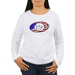Patriotic Peace Happy Face Women's Long Sleeve T-S