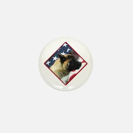 Akita Flag 2 Mini Button