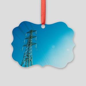 Electricity pylon Picture Ornament