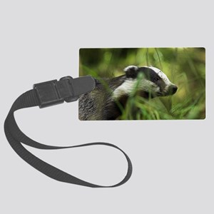 European badger Large Luggage Tag