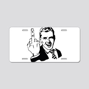 The Middle Finger Aluminum License Plate
