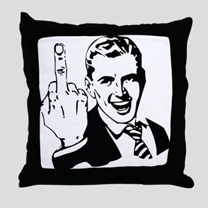 The Middle Finger Throw Pillow