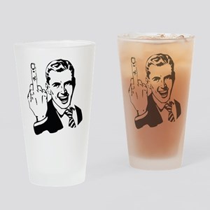 The Middle Finger Drinking Glass