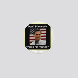 I Voted For Romney Mini Button