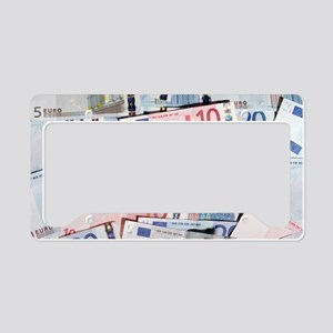 Euro bank notes License Plate Holder