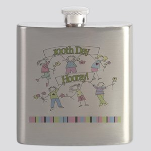 Pastel Kids Celebrate 100th Day Flask