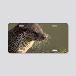 European otter Aluminum License Plate