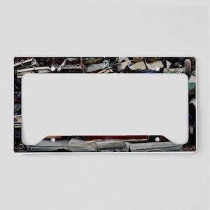 Flattened car bodies License Plate Holder