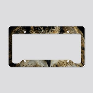 European eagle owl License Plate Holder