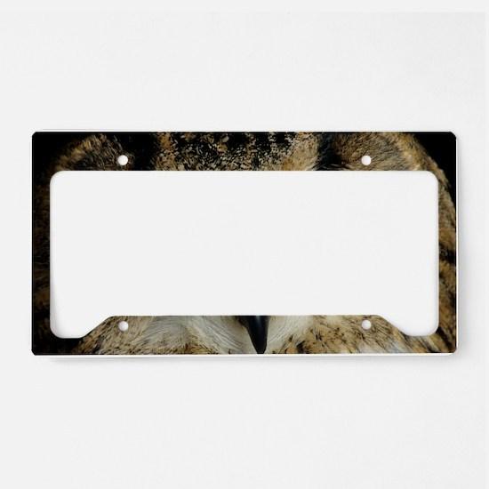 European eagle owl License Plate Holder