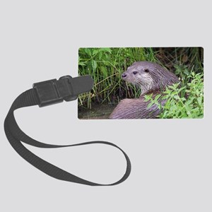 European otter Large Luggage Tag