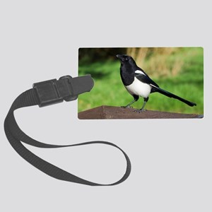 European magpie Large Luggage Tag