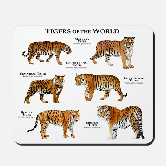 Tigers of the World Mousepad