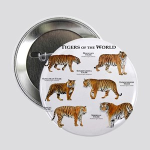 """Tigers of the World 2.25"""" Button"""