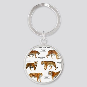 Tigers of the World Round Keychain