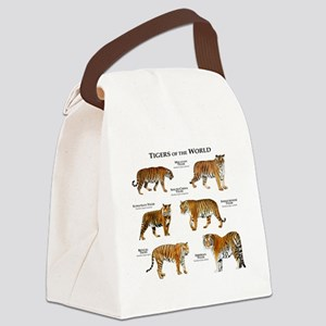 Tigers of the World Canvas Lunch Bag