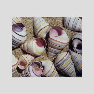 Freshwater snail shells Throw Blanket