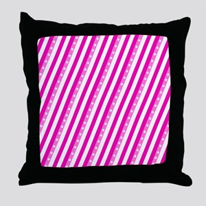 Pink Stars Aligning Designer Throw Pillow