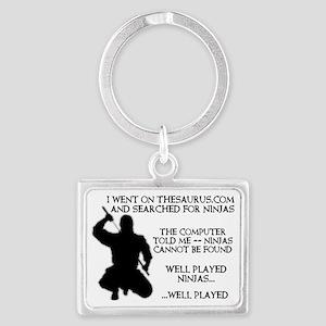 Thesaurus Ninja Funny T-Shirt Landscape Keychain