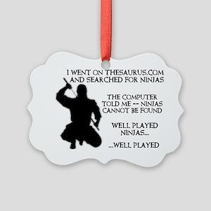 Thesaurus Ninja Funny T-Shirt Picture Ornament