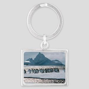 Gentoo penguins Landscape Keychain