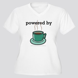 Powered By Coffee Women's Plus Size V-Neck T-Shirt