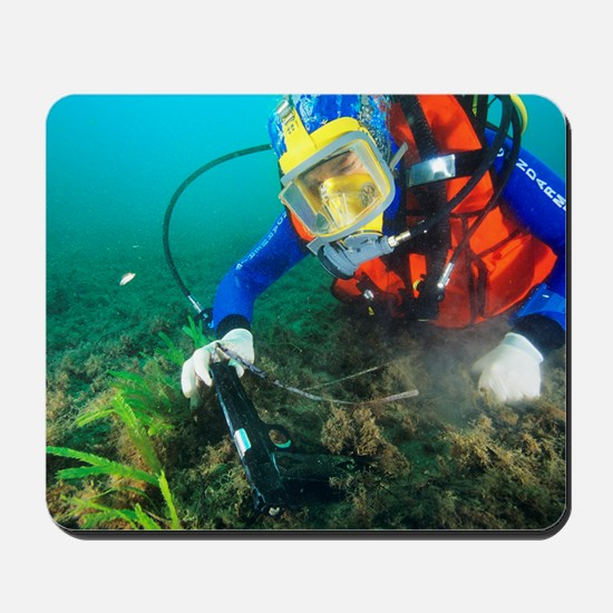 Finding evidence underwater Mousepad