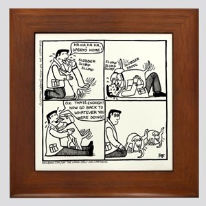 Welcome Home Daddy! Framed Tile